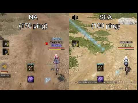Black Desert Online] NA vs SEA ping test with mudfish from Australia