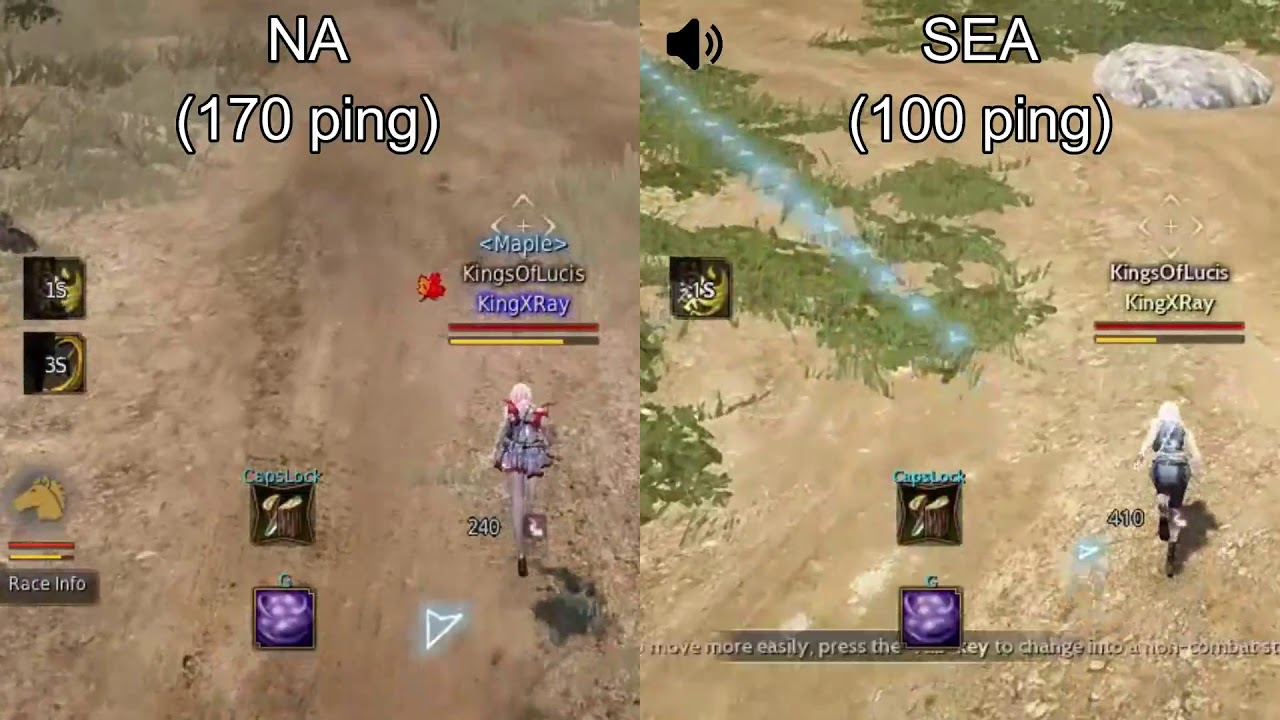 Black Desert Online] NA vs SEA ping test with mudfish from