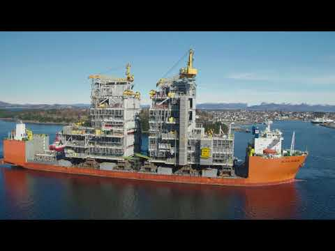 Martin Linge topside modules arrive in Stavanger, Norway