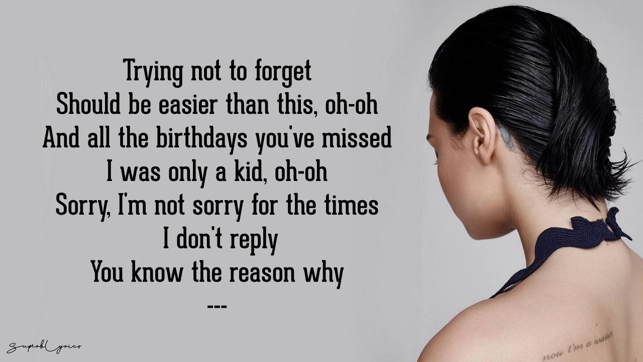 Shouldn't Come Back — Demi Lovato (Lyrics)