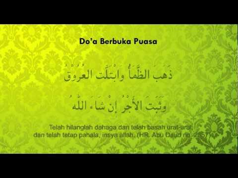 doa berbuka puasa sesuai sunnah