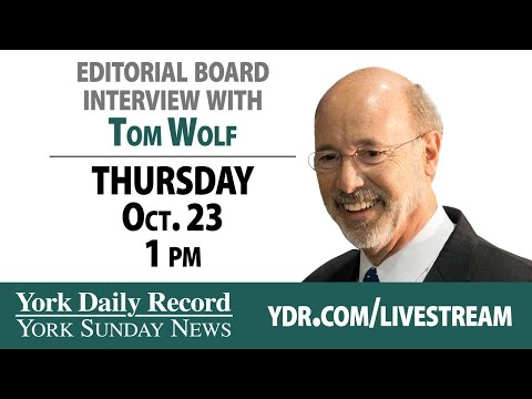 Tom Wolf, candidate for PA Gov, speaks to YDR Editorial Board
