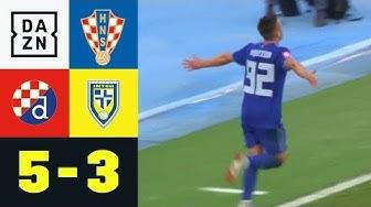 Torwartfehler, rote Karte und gute Tore: Zagreb - Zapresic 5:3    Kroatien   Highlights   DAZN