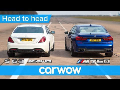 Mercedes-AMG S63 vs BMW M760 - DRAG RACE, ROLLING RACE & BRAKE TEST | Head-to-Head