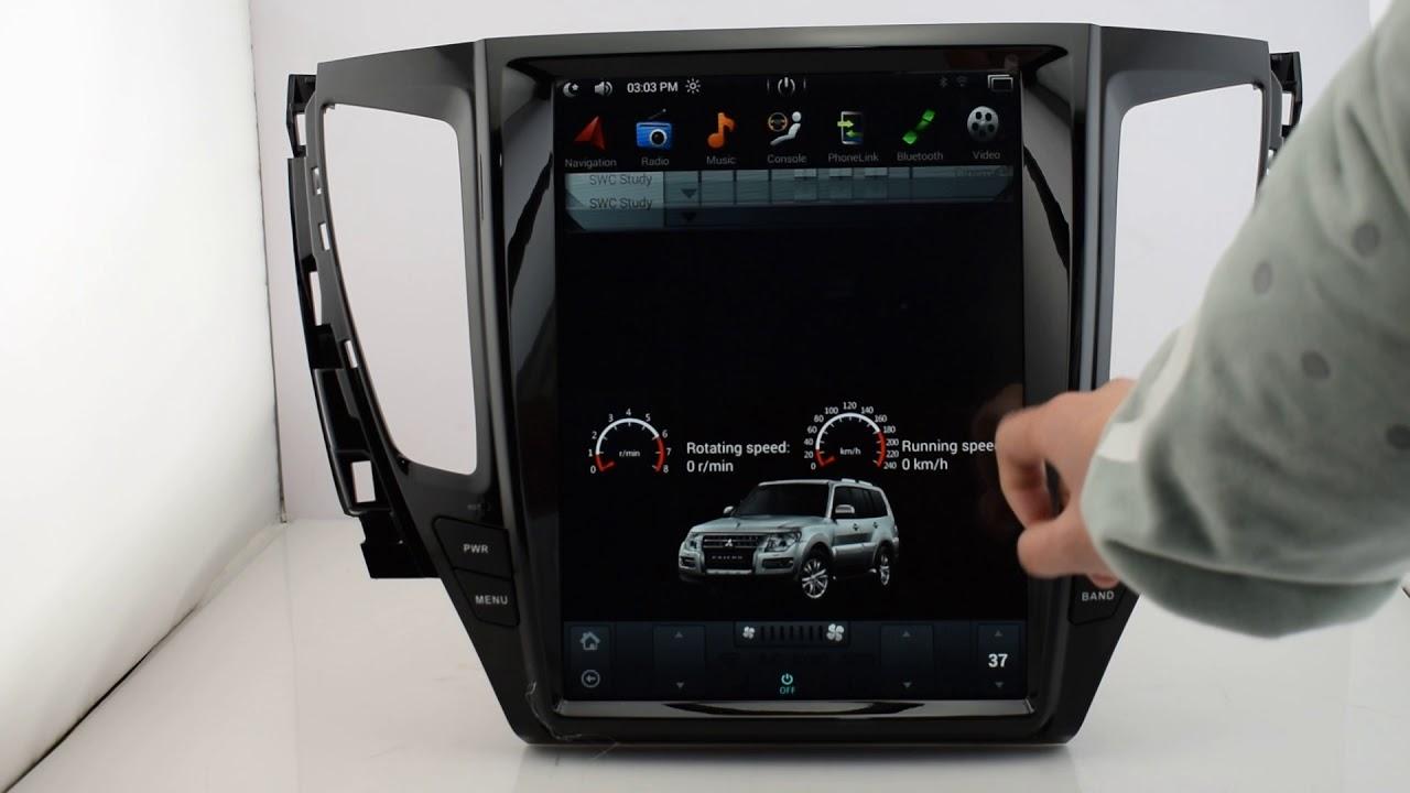 "2016 Acura Tl >> KiriNavi Vertical Screen Tesla Style 12.1"" car stereo for Mitsubishi Pajero Sport - YouTube"