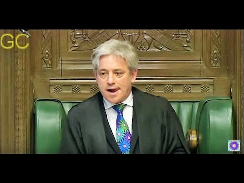 Speaker John Bercow Pissed-Off At His Own Party [March 2015]