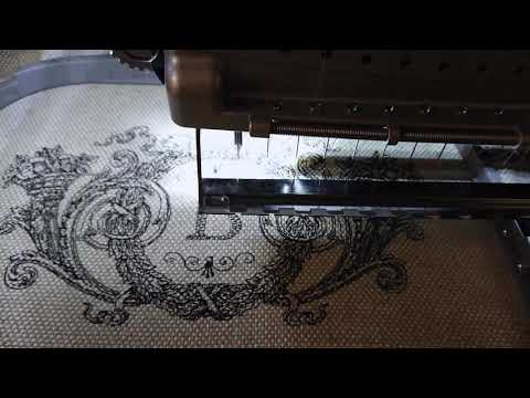 Machine embroidery design Victorian floral decor by Royal Present Embroidery