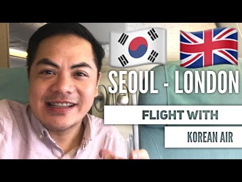 TRAVEL VLOG: BUSINESS CLASS FLIGHT REVIEW SEOUL 🇰🇷 TO LONDON 🇬🇧   I  VLOG#63