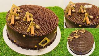 ഓവൻ ഇല്ലാതെ എല്ലാവർക്കും Simple ആയി ചെയ്യാം 2kg ചോക്ലേറ്റ് ട്രഫിൾ കേക്ക് || Tasty chocolate truffle🎂