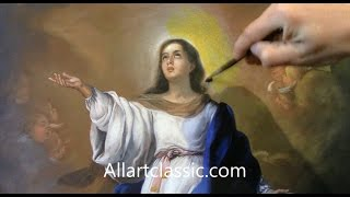 """Religious Painting-Murillo """"Assumption of the Virgin"""""""