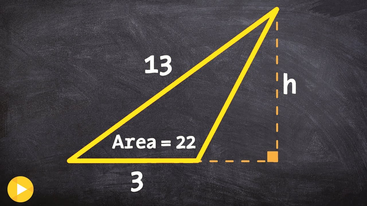 how to determine the height of a triangle when given the area youtube. Black Bedroom Furniture Sets. Home Design Ideas