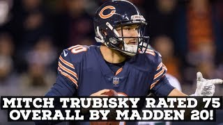 Chicago Bears QB Mitch Trubisky Ranked 75 Overall By Madden 20!
