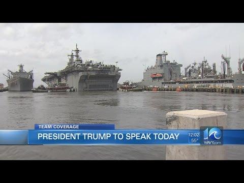 Team: Trump set to visit Newport News Shipbuilding