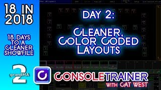18 in 2018: Day 2- Cleaner, Color Coded Layouts -- grandma2