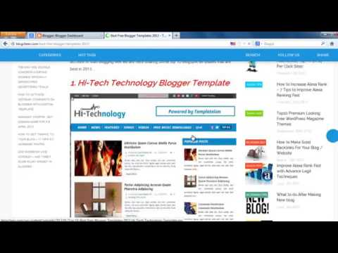 How To Download Best Blogger Templates   YouTube