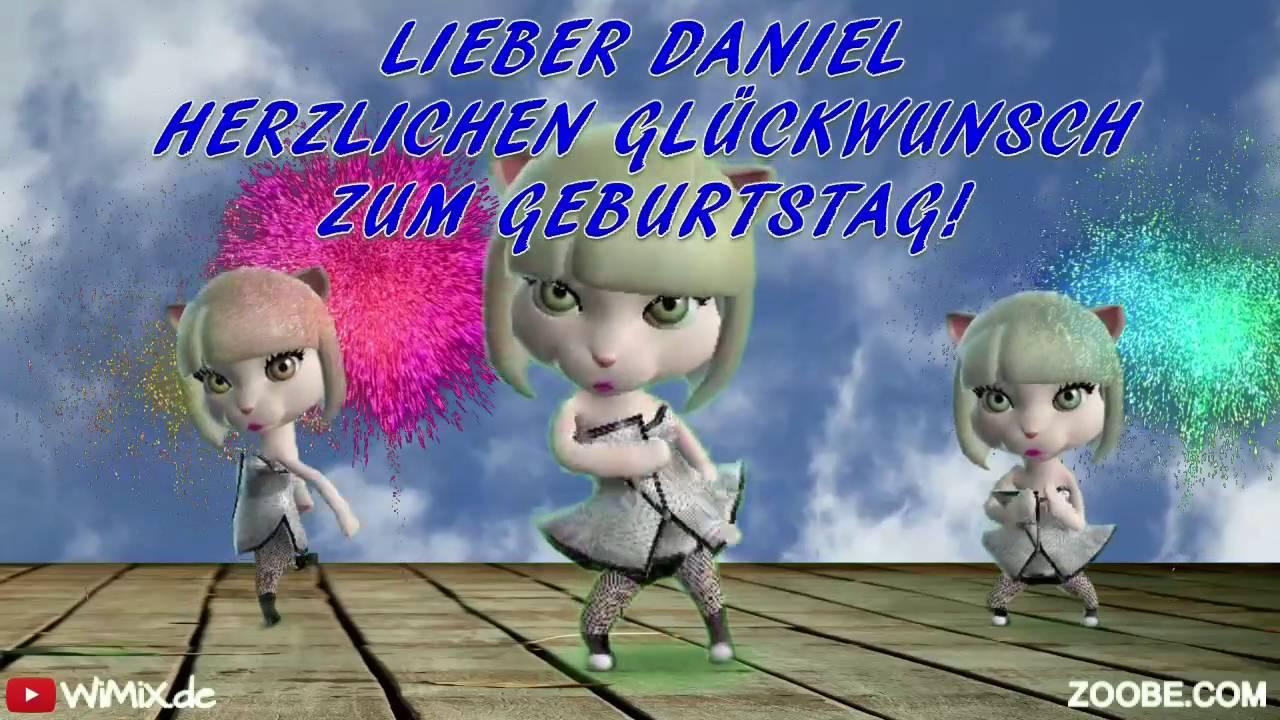 Wimix De Daniel 0001 Happy Birthday Herzlichen Gluckwunsch Zum