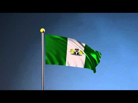 Nigeria Flag with the National Anthem - Maya nCloth Animation