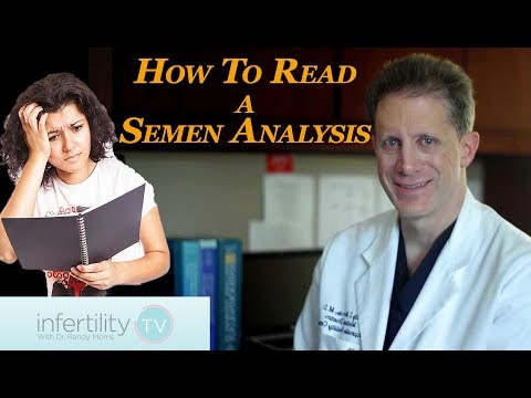 How to read a semen analysis | Infertility TV