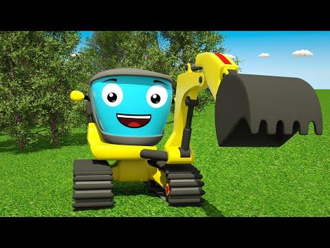 Мультфильм про желтый экскаватор