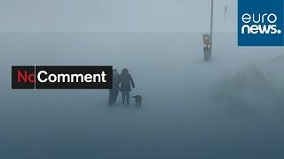 Storm Sabine hits Switzerland
