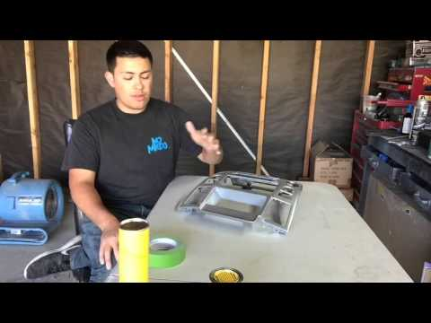 How To Apply Flocking Powder To An IPad Dash