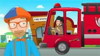 Blippi Fire Truck Song | Gecko's Garage Songs | Children's Music | Vehicles For Kids!