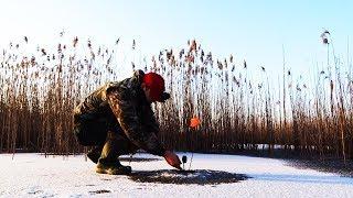 Снова первый и опасный лёд Ловля щуки на жерлицы в феврале