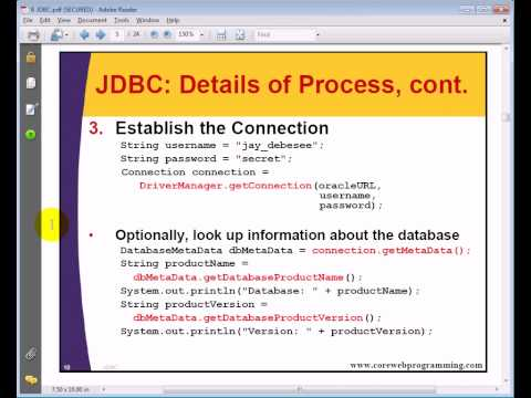 8 Explain JDBC Driver, DriverManager, Connection, Statement, ResultSet, Example