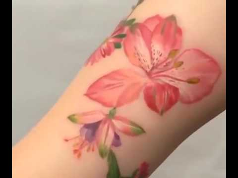 Tattoo Artist Uses Real Plants To Stencil Plant Tattoos Youtube