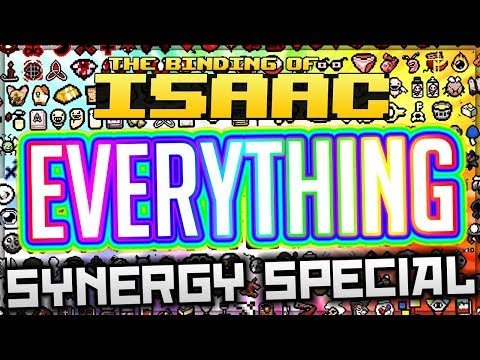 LITERALLY EVERY ITEM AT ONCE! - Synergy Lab Special - The Binding of Isaac: Afterbirth+! (4 Flavors)