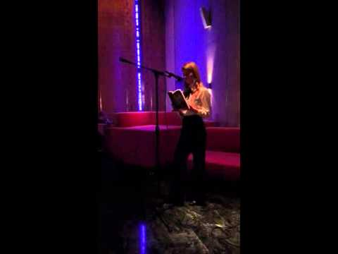 """Annabel Graham reads her short story """"Of Hands and Birds"""" at the Standard Hotel for Autre Magazine"""