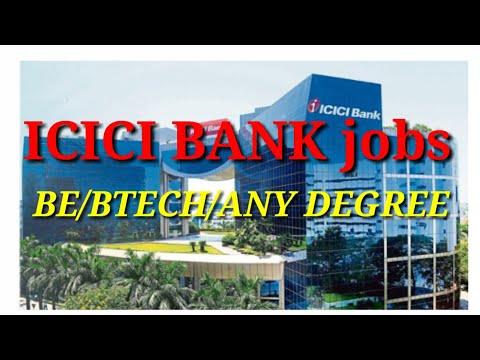 ICICI BANK JOBS    BE/Btech/Degree    Bank Jobs//Gpr Talks