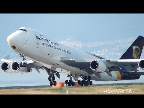 [Heavy takeoff] United Parcel Service (UPS) Boeing 747-400F