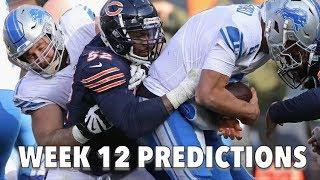 BEARS VS LIONS WEEK 12 PREDICTIONS