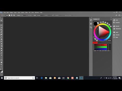 adobe Photoshop cc 2018 tutorial color wheel  دايرة اللون فى الفوتو شوب