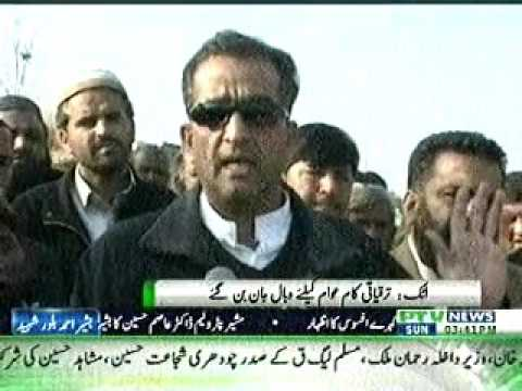 Ex Stat Minister  Malik Ameen Aslam talk to media about  PMLN corruption .