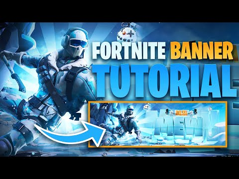 Fortnite Winter/Christmas Banner Tutorial (FREE PSD!!) - Tutorial By EdwardDZN