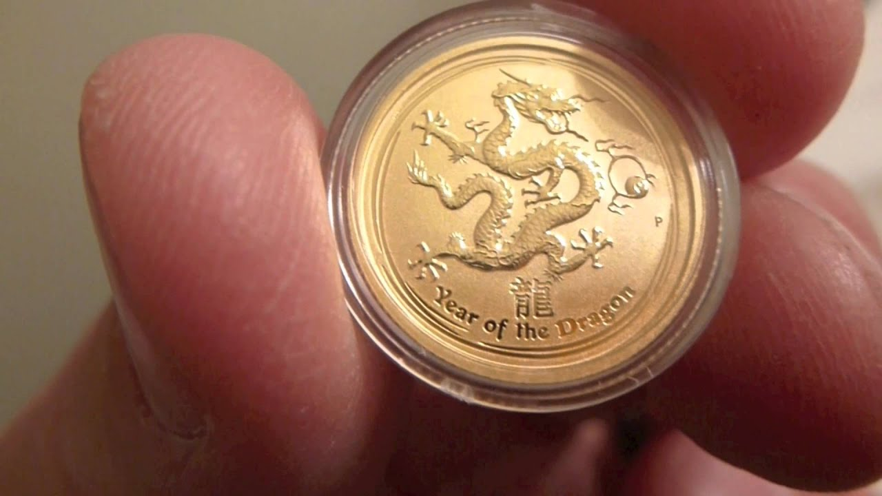 2012 Australian Perth Mint Year Of The Dragon One Tenth