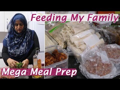 Mega Meal Prep For The Holidays | Feeding My Family of 8 | S