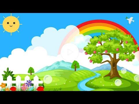 background animasi kartun bergerak pemandangan no