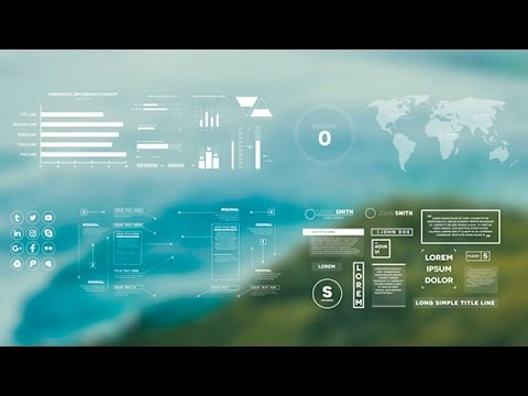 Simple Infographics - After Effects Template - YouTube
