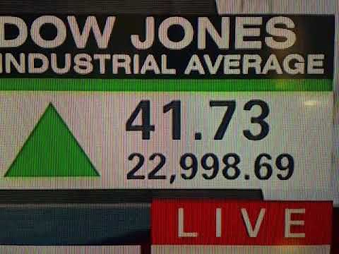 Watch as the DOW JONES INDUSTRIAL average cross the 23,000 mark for the first time...