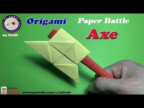How to Make Origami Battle-Axe - Creative Ideas - Easy Origami for Kids - Craft
