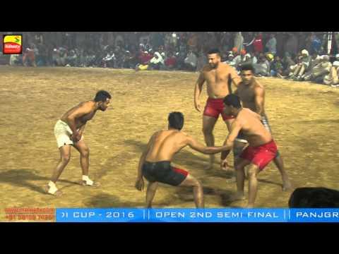 PANJGRAIN v/s SHAMCHURASI BIHLA (Barnala) KABADDI CUP MATCH 2016 OPEN 2nd SEMI FINAL Part 6th