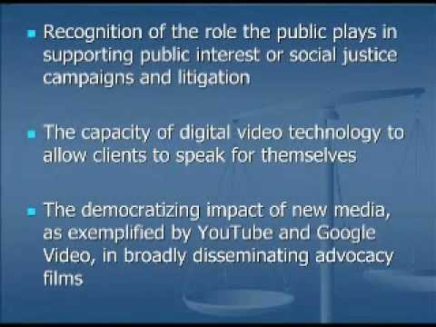 2007 Visual Legal Advocacy at Penn Law School-An Introduction