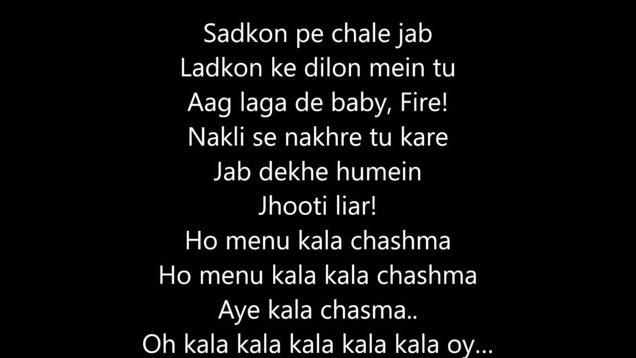 Freshmaza Kala Chashma Song