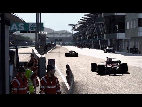 F1 2017 GP Malásia Nível 80 é tenso! Pit Stop no limite para voltar na frente