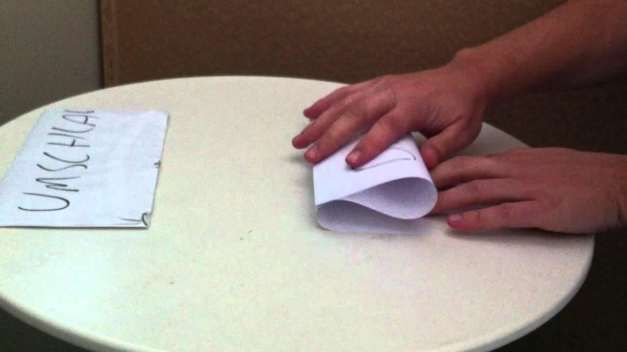 Tipp Dina4 Blatt Papier Falten Zur Welle Dina4 Blatt Papier