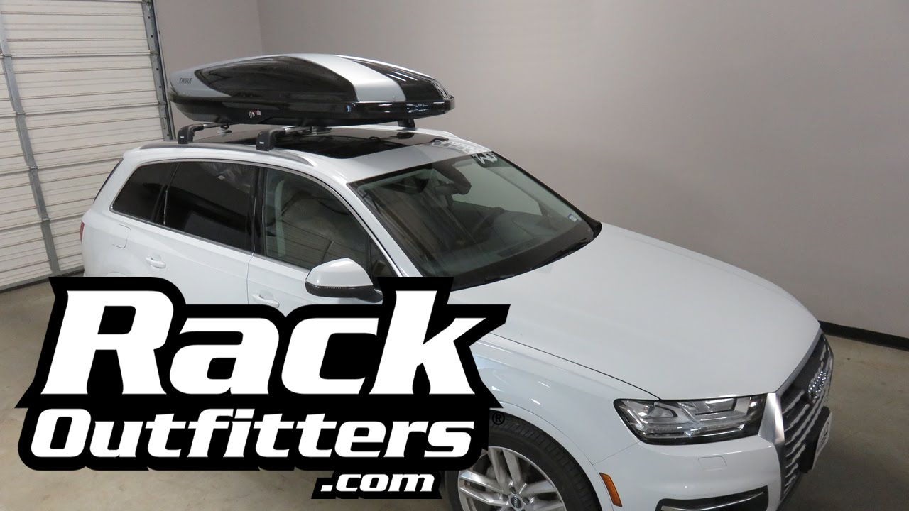 2017 Audi Q7 With Thule 612 Hyper Roof Top Cargo Box