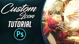 #Adobe Photoshop Tutorials | How to make a custom icon |